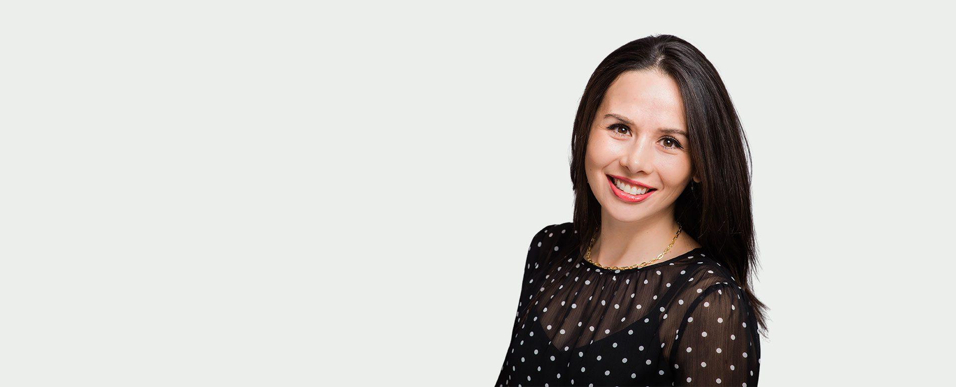 Woman smiling with beautiful teeth